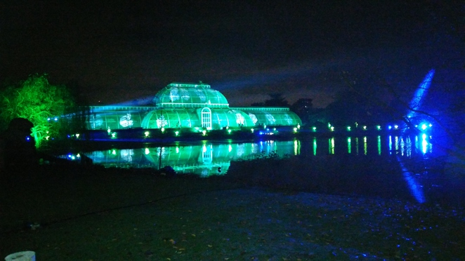 Kew, Light show, palm house laser show