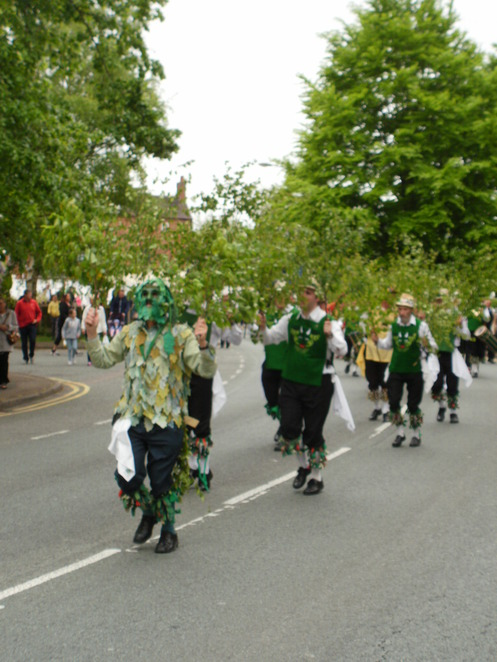 Lichfield Bower Festival, Beacon Park, Morris dancers, Green Man's Morris and Sword Club