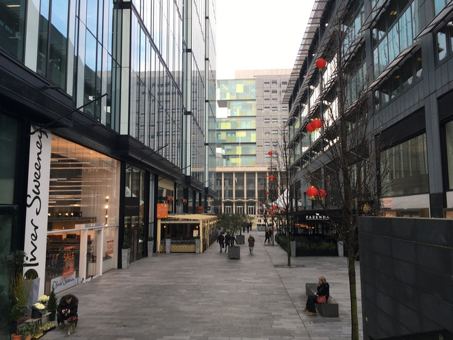 Manchester, Spinningfields, Fazenda, restaurants