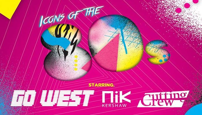 portsmouth guildhall, icons of the 80s, nik kershaw, cutting crew, go west, concerts, 80s music
