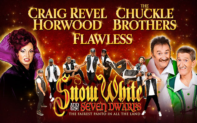 snow white and the seven dwarfs, pantomime, comedy, mayflower theatre, pantomime at the mayflower