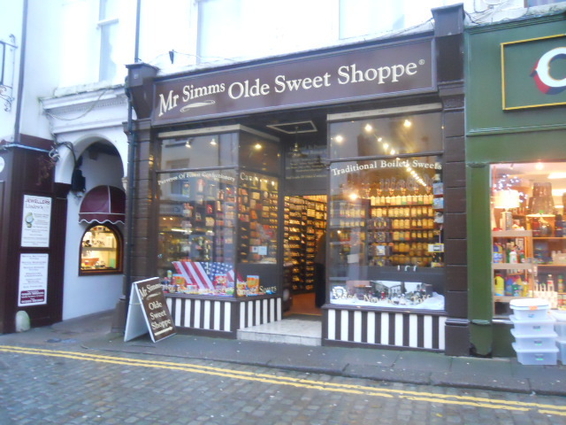 ulverston, town centre, mr simms sweet shoppe