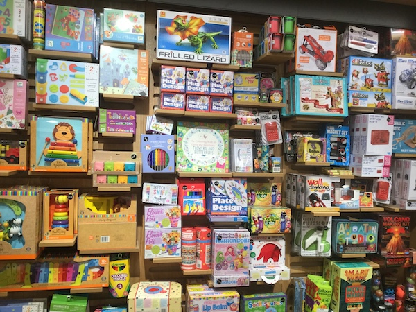 waterstones, wimbledon, toys, games, arts & crafts