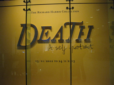 Death A Self Portrait exhibition entrance Wellcome Collection