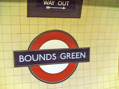 London, underground, the tube, bounds green, stations, map