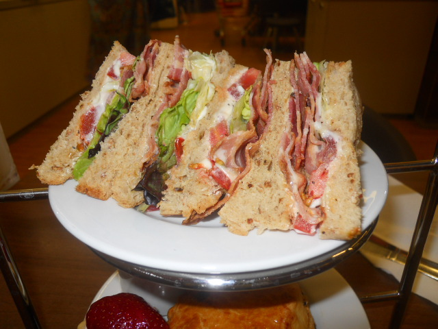 marks & spencer, m&s cafe, afternoon tea, BLT, sandwiches