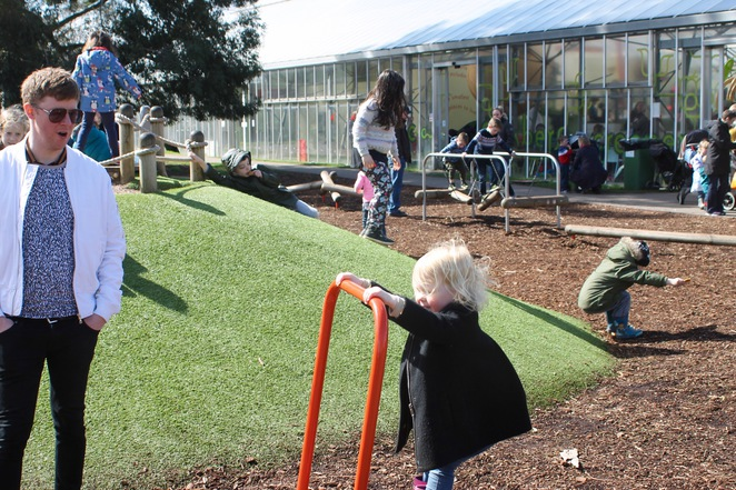 Outdoor play area at Kew Gardens