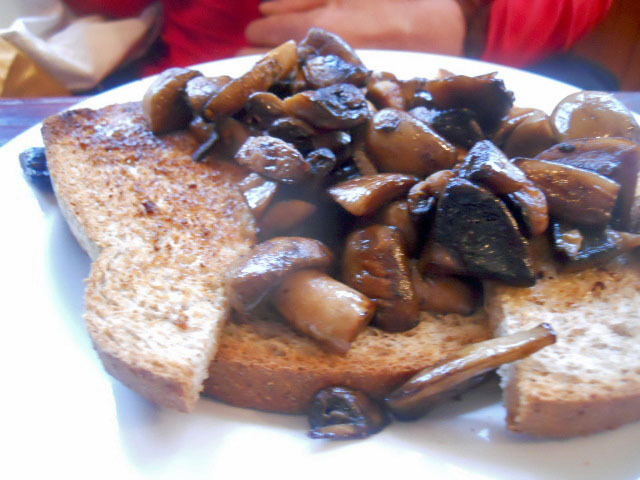 ulverston, town centre, gillam's tea room, fried mushrooms on toast, fried mushrooms, toast