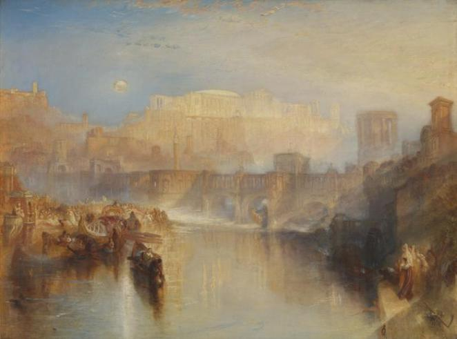 Ancient Rome; Agrippina Landing with the Ashes of Germanicus exhibited 1839, jmw turner