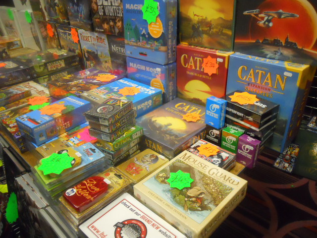 london gaming market, catan, mouse guard, board games