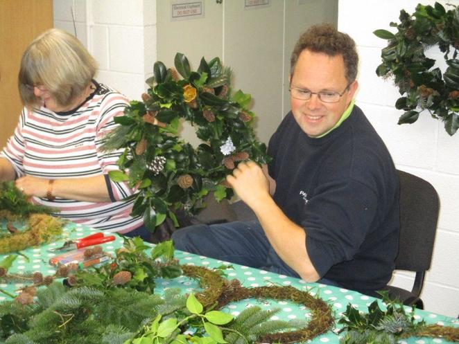 Beacon Park, Christmas Wreath Workshop