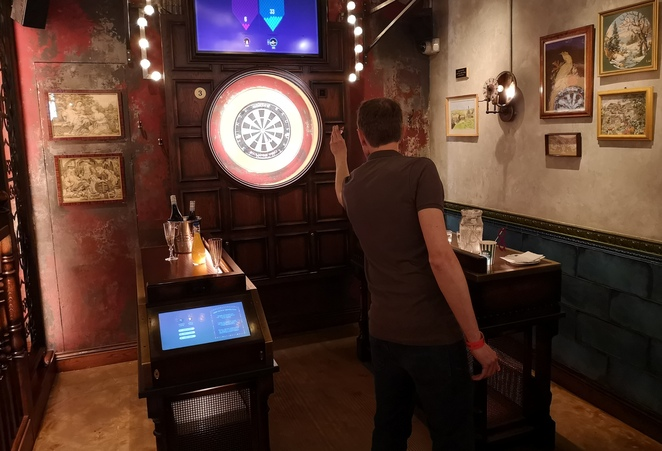 Flight Club Birmingham, review, darts social bar