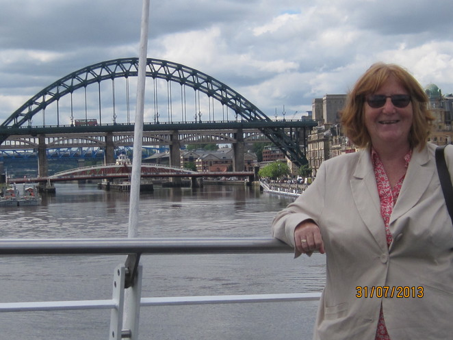 Margaret with Tyne Bridge backdrop