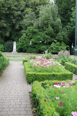 Maze garden at priory park southend