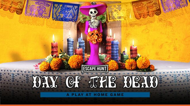 Escape hunt, play at home games, day of the dead, halloween
