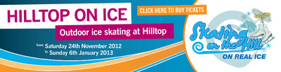 Hilltop Garden Centre, Oxfordshire, Outdoor ice skating, rink