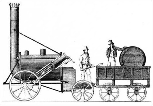 Stephenson's Rocket drawing