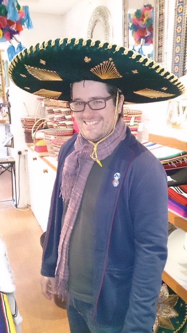 Casa Mexico, Mexican themed shop, Bethnal Green, London, sombrero