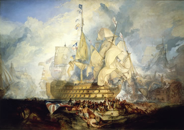 maritime museum, turner and the sea, battle of trafalgar