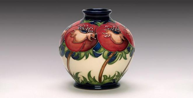 moorcroft, 100 years of living pottery, blackwell arts & crafts house
