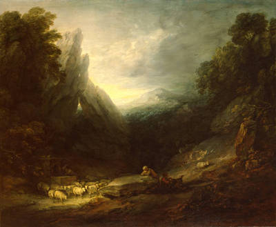 romantic landscape, thomas gainsborough