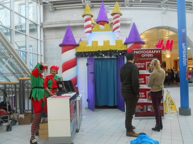 centre court, wimbledon, elves, santa's grotto