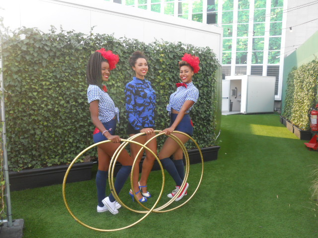 john Lewis, oxford street, on blackheath, roof terrace, marawa the amazing, majorettes, hoola hooping, hoola hoop