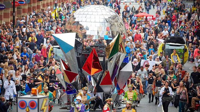 Manchester Day 2017, St Ann's Square, Cathedral Gardens, Exchange Square, parade, Manchester