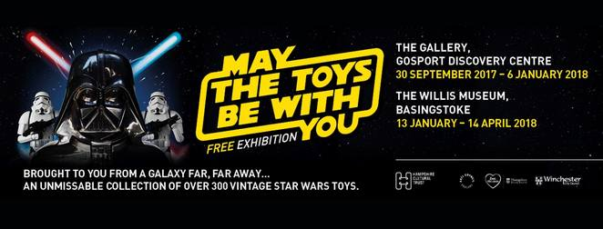 star wars, vintage star wars collectibles, hampshire exhibitions, toy exhibitions, gosport discovery centre, willis museum basingstoke