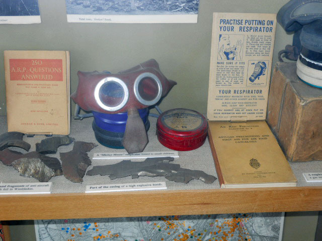 wimbledon society museum, gas mask