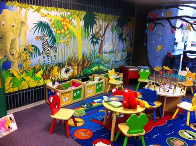 Forfar, library, mural, children, books, storytime
