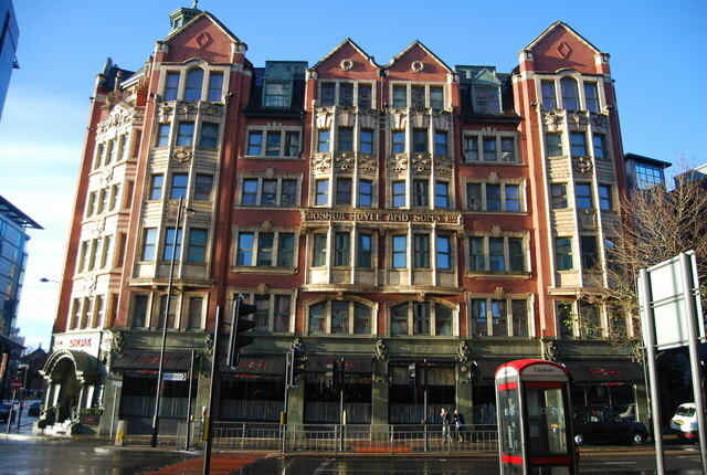 Joshua Hoyle and Sons Ltd, Manchester, history, Woolworths, Manchester Piccadilly gardens, Malmaison hotel