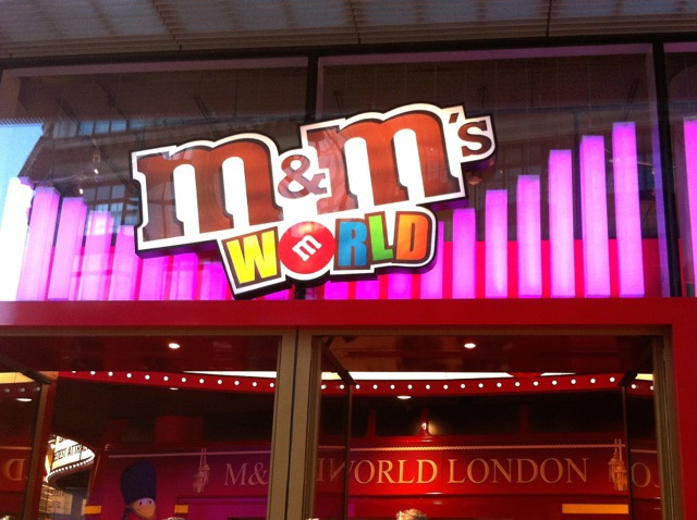 M&M's, chocolate, candy, leicester square, london, colours, merchandise, kids, fun