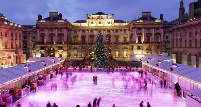 skating, ice rink, somerset house