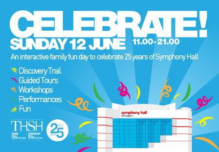 Symphony Hall Birmingham, Celebrate open day, 25th anniversary, Shlomo, Young Pilgrims, Musical Picnic