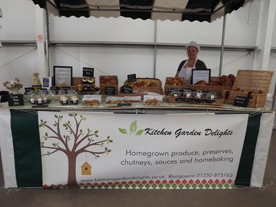 The Kitchen Garden Delights Stall at the Angus Farmers' Market in Forfar