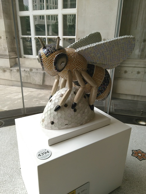 Bee in the city, art, library, baby bee, artwork, exhibition, sculptures, wild in art, bees, Manchester, city, trail, map