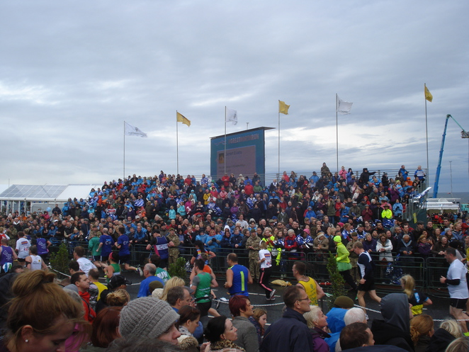 big screen finish at shields seafront