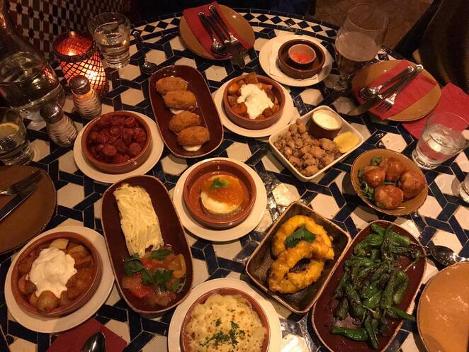 Cafe Andaluz, Edniburgh, Spain, Scotland, tapas, food, Andalusia