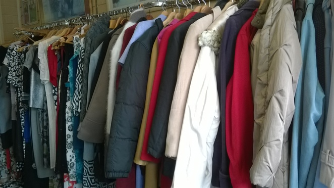 coats jackets tops charity shop