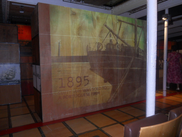 cutty sark, ship, merchant vessel, museum, greenwich, video projector