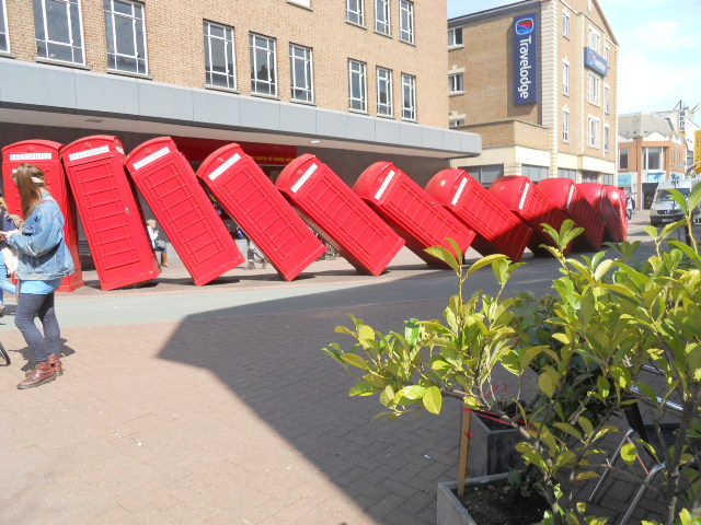 kingston, post boxes, out of order, david mach