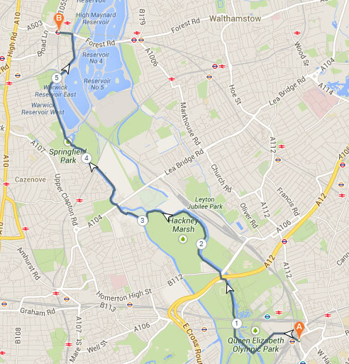 North London Walk Map