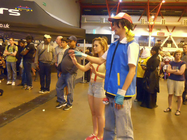 pokemon, earls court, london film and comic convention, lfcc, ash ketchum, cosplay, gaming, dancing