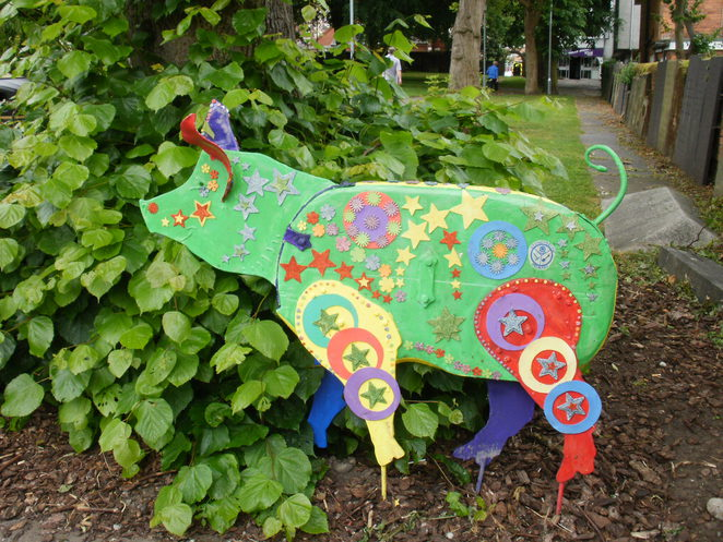Stoneydelph Primary School, Tamworth Two, Sandyback pigs, Trotters Trail, Tamworth Borough Council