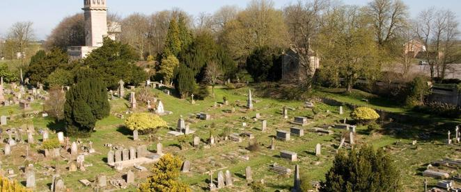 Beckford's Tower and Lansdown Cemetery
