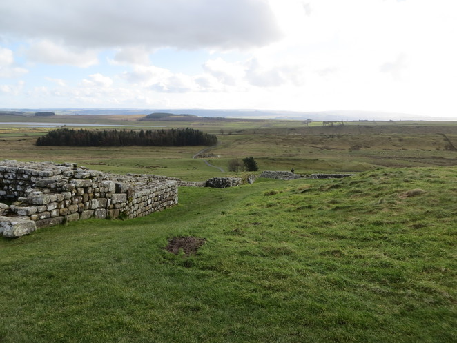 hadrians, wall, housesteads, roman, fort