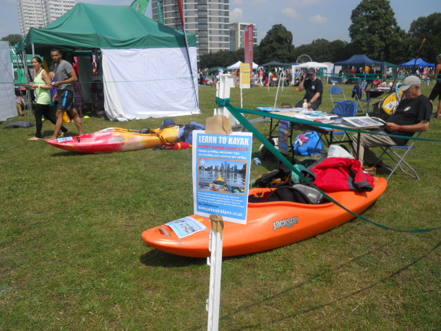 king george's park, get active wandsworth festival, get rhetoric, kayaking, putney canoe club