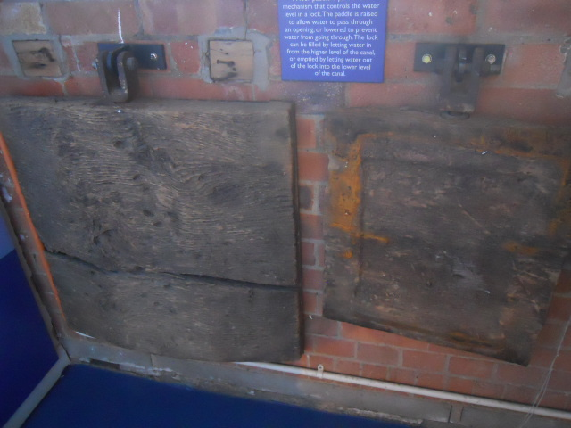 london canal museum, lock paddles