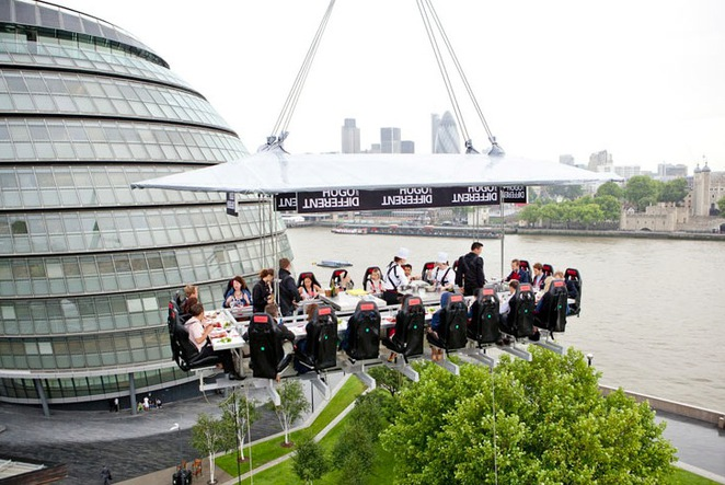 london in the sky, dinner in the sky
